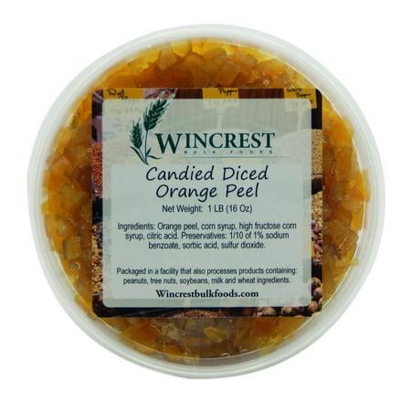 Candied Diced Orange Peel ~ Glazed Fruit ~ 1 Pound - Orange Tub