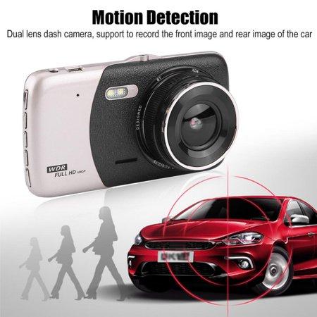 LHCER 4Inch HD 1080P Car DVR Driving Video Recorder Dual Lens Dash Camera Night Vision, Car Dash Camera, HD Car DVR - image 7 of 13