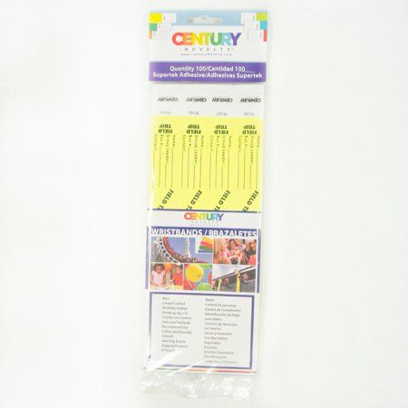100 Yellow Field Trip Tyvek Security Wristbands Walmart Com