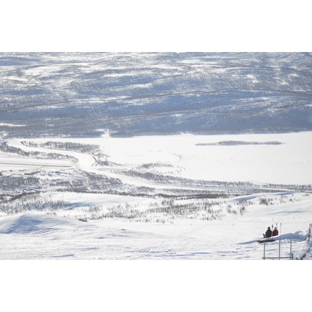 LAMINATED POSTER Real Mountains Winter Swedish Mountain Hemavan Poster Print 24 x 36