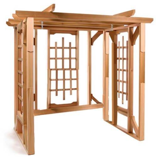 All Things Cedar Classic Cedar Pergola Swing Stand