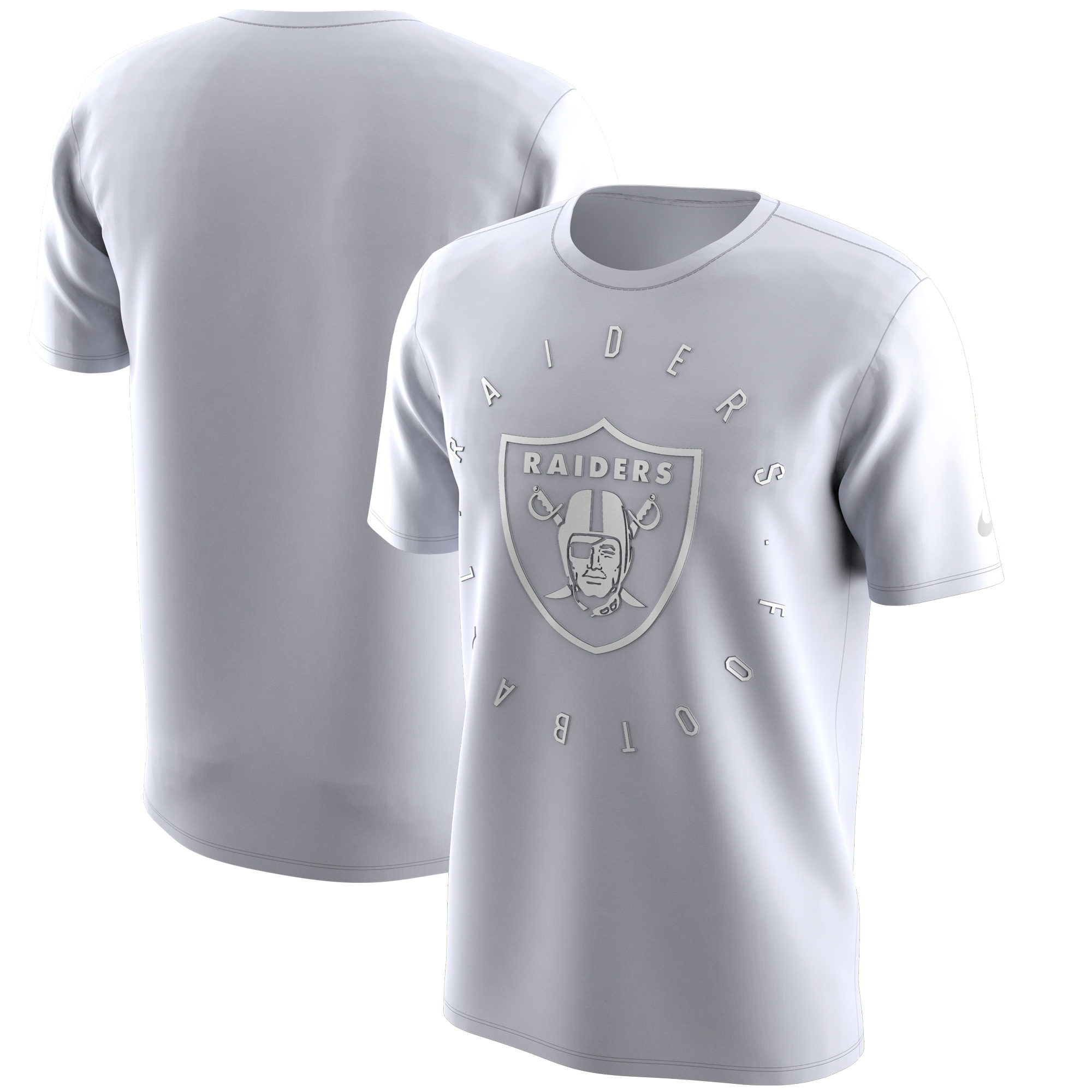 Oakland Raiders Nike Color Rush Logo T-Shirt - White