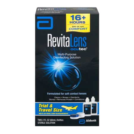 Revitalens Ocutec Multi Purpose Disinfecting Solution Formulated For Soft Contact Lenses   2 Ct