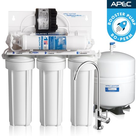 Apec Top Tier Supreme High Efficiency Permeate Pumped Ultra Safe Reverse Osmosis Drinking Water Filter System For Low Pressure Homes  Ultimate Ro Perm
