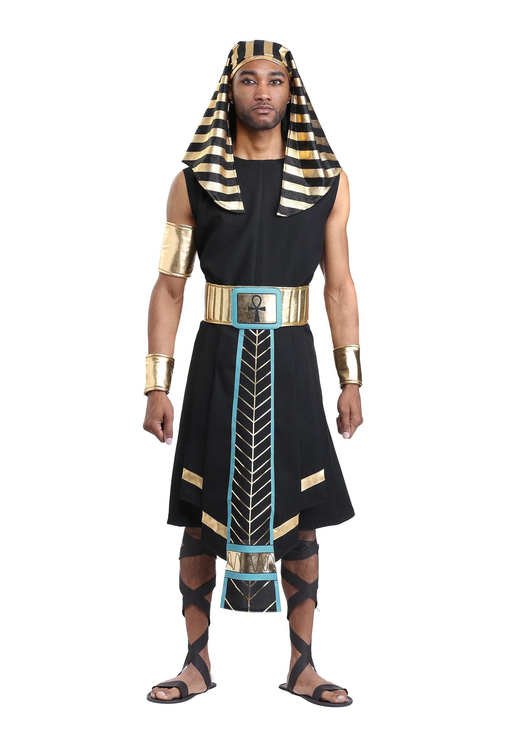 Pharaoh Deluxe Men Egyptian Costume by California King Royal New Tunic Headpiece