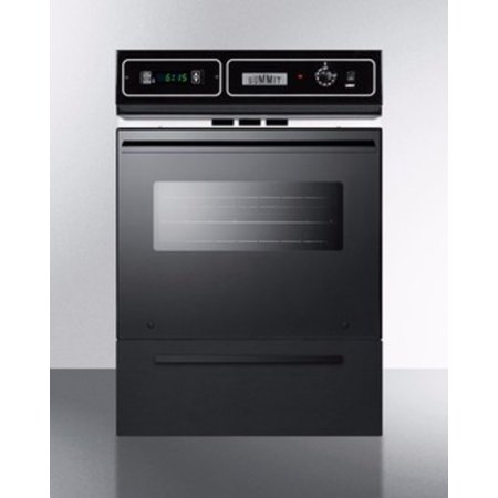Summit TTM7212DK 24 in. Gas Wall Oven - Black (Gas Slide In Oven)