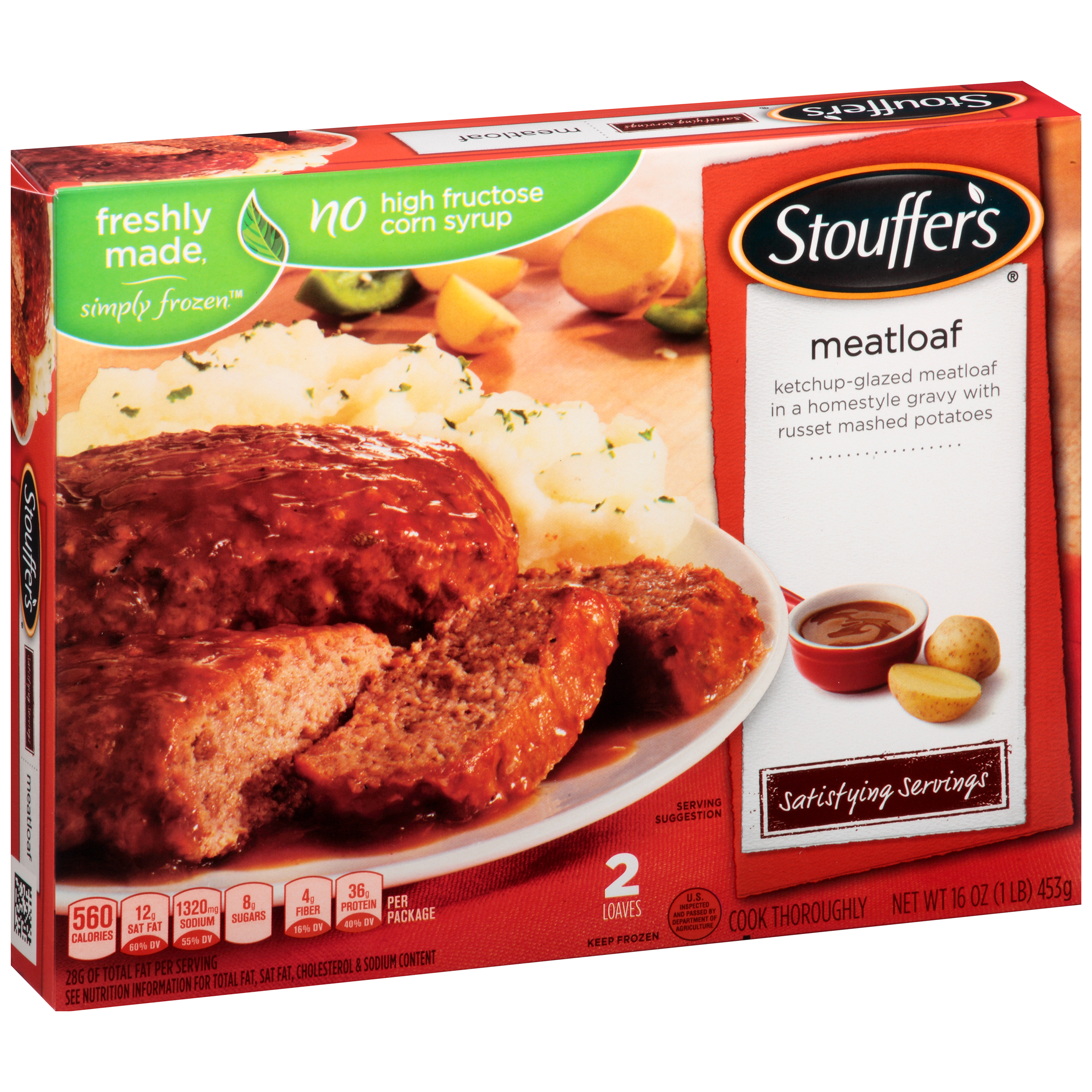 STOUFFER'S Satisfying Servings Meatloaf 16 oz. Box