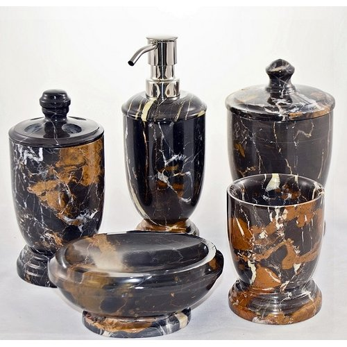 Nature Home Decor Michelangelo Marble Series 300 5-Piece Bathroom Accessory Set