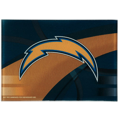 Los Angeles Chargers 8'' x 11.75'' Carbon Fiber Cutting Board