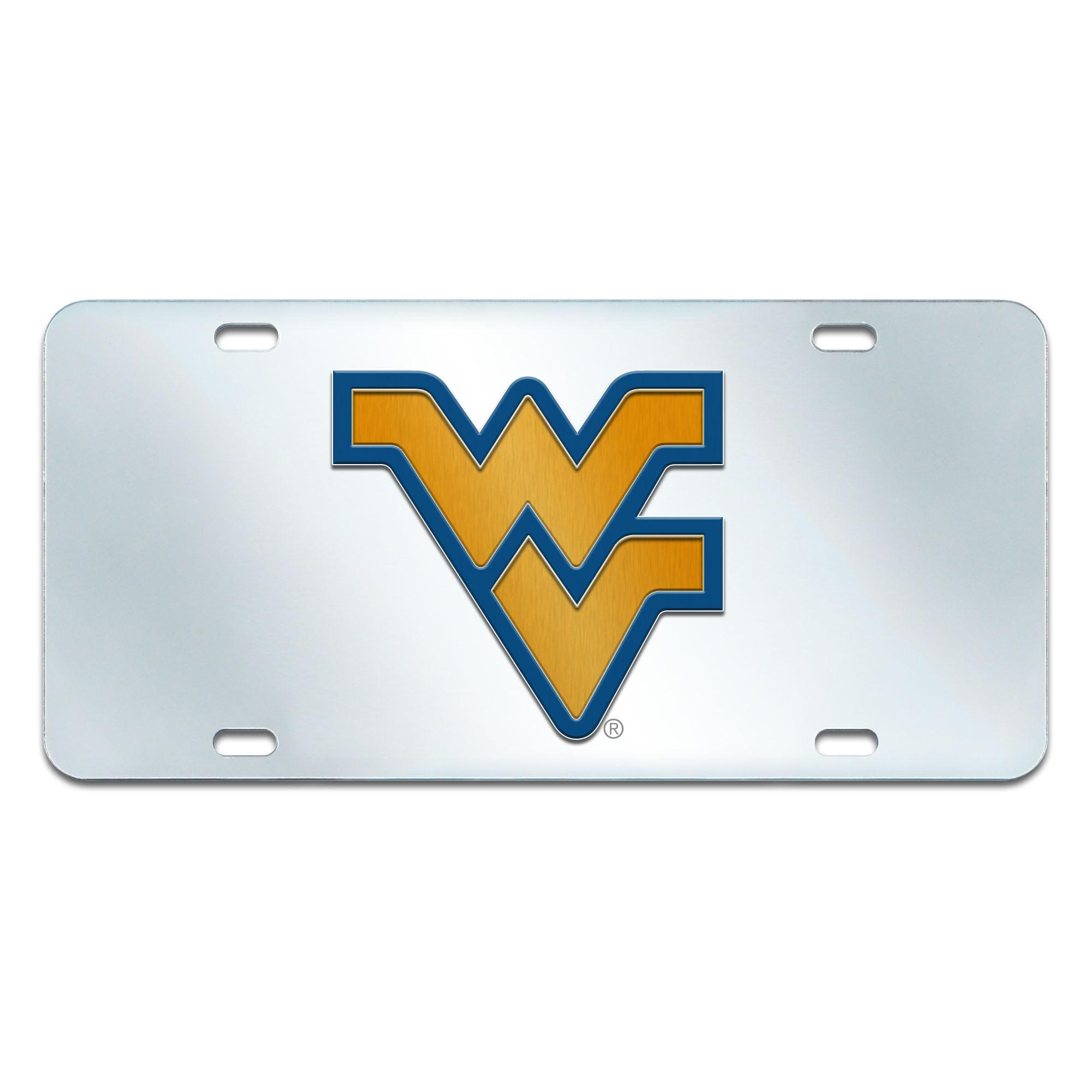 West Virginia University Inlaid License Plate