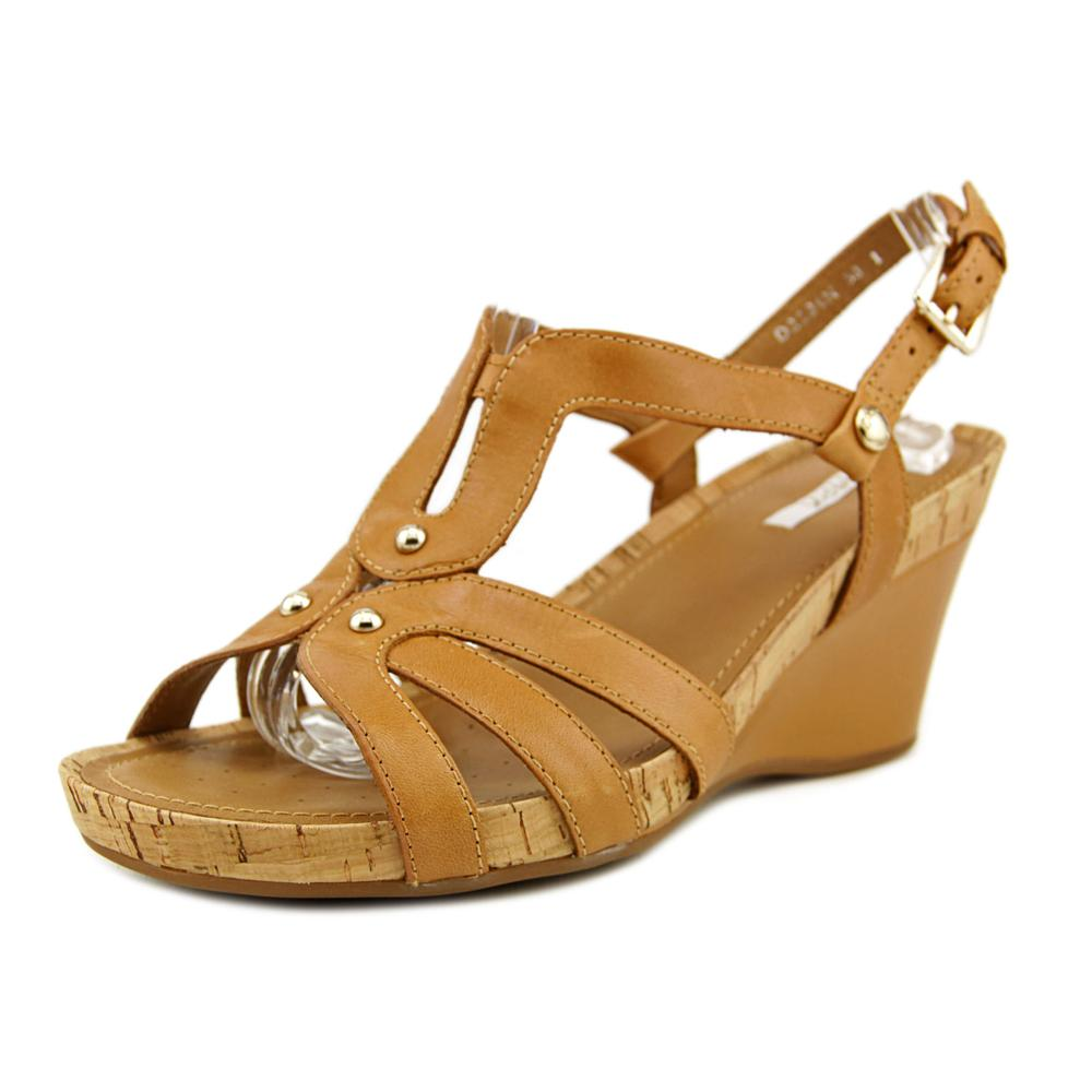 Geox D Roxy Pelle   Open Toe Leather  Wedge Heel