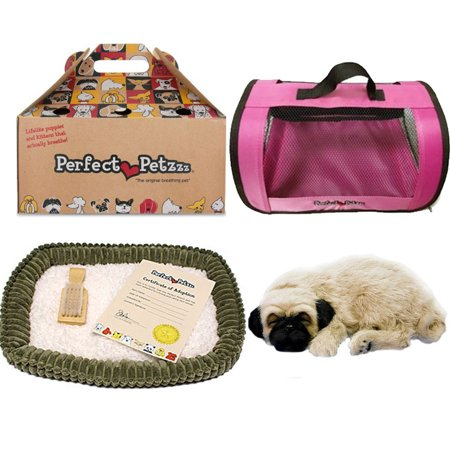 perfect petzzz pug perfect petzzz huggable pug puppy with pink tote for plush 5082