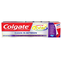 Toothpaste: Colgate Total Clean-In-Between
