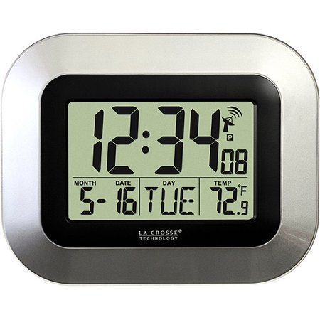 La Crosse Technology Atomic Digital Wall Clock With