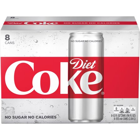 Diet Coke Soda Slim Can  12 Fl Oz  8 Count