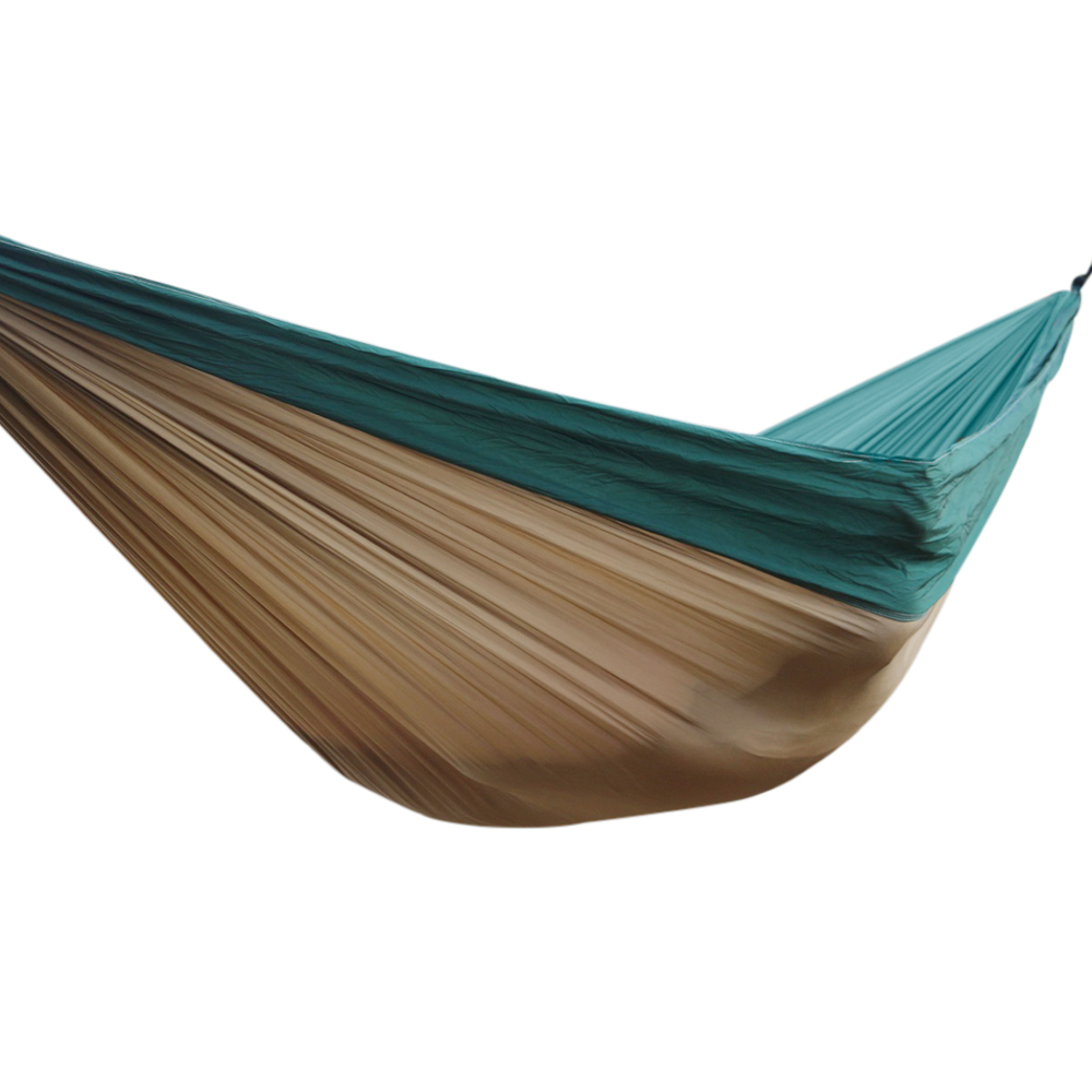 Budge Double Nylon Hammock / Camping Hammock with Tree Straps