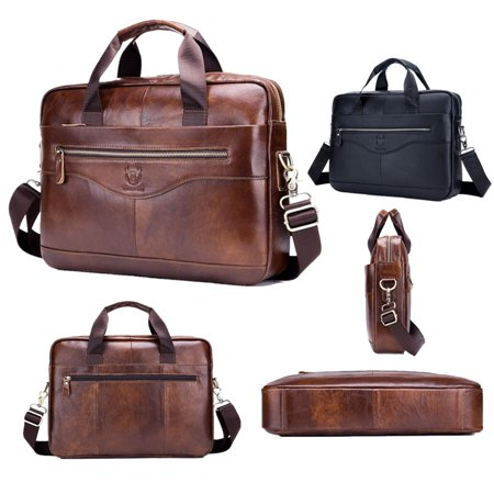 Meigar Leather Briefcase Laptop Handbag Messenger Business Bags for Men