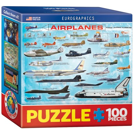 Airplanes - 100 Piece Mini Jigsaw Puzzle - Eurographics