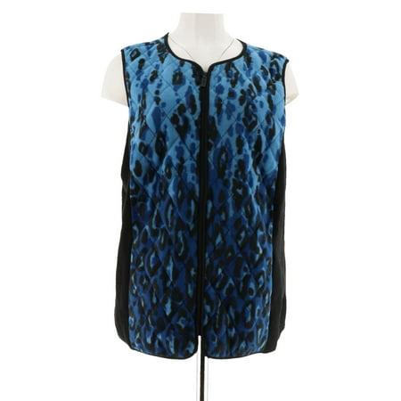 Fleece Print Vest - Bob Mackie Animal Print Zip-Up Fleece Vest A279161