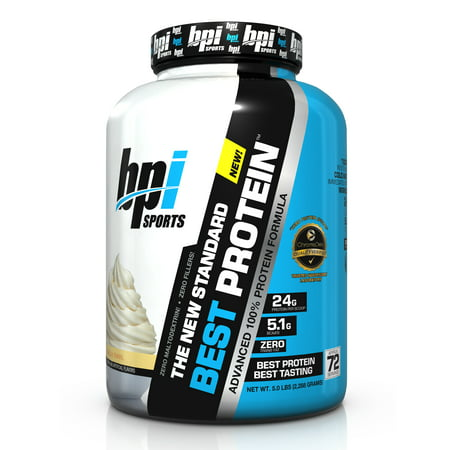 BPI Sports Best Protein Protein Vanilla Swirl, 72 (Best Undenatured Whey Protein)