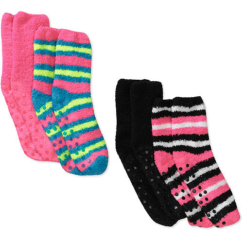 Women's Cozy Crew Stripe Sock, 4-Pack