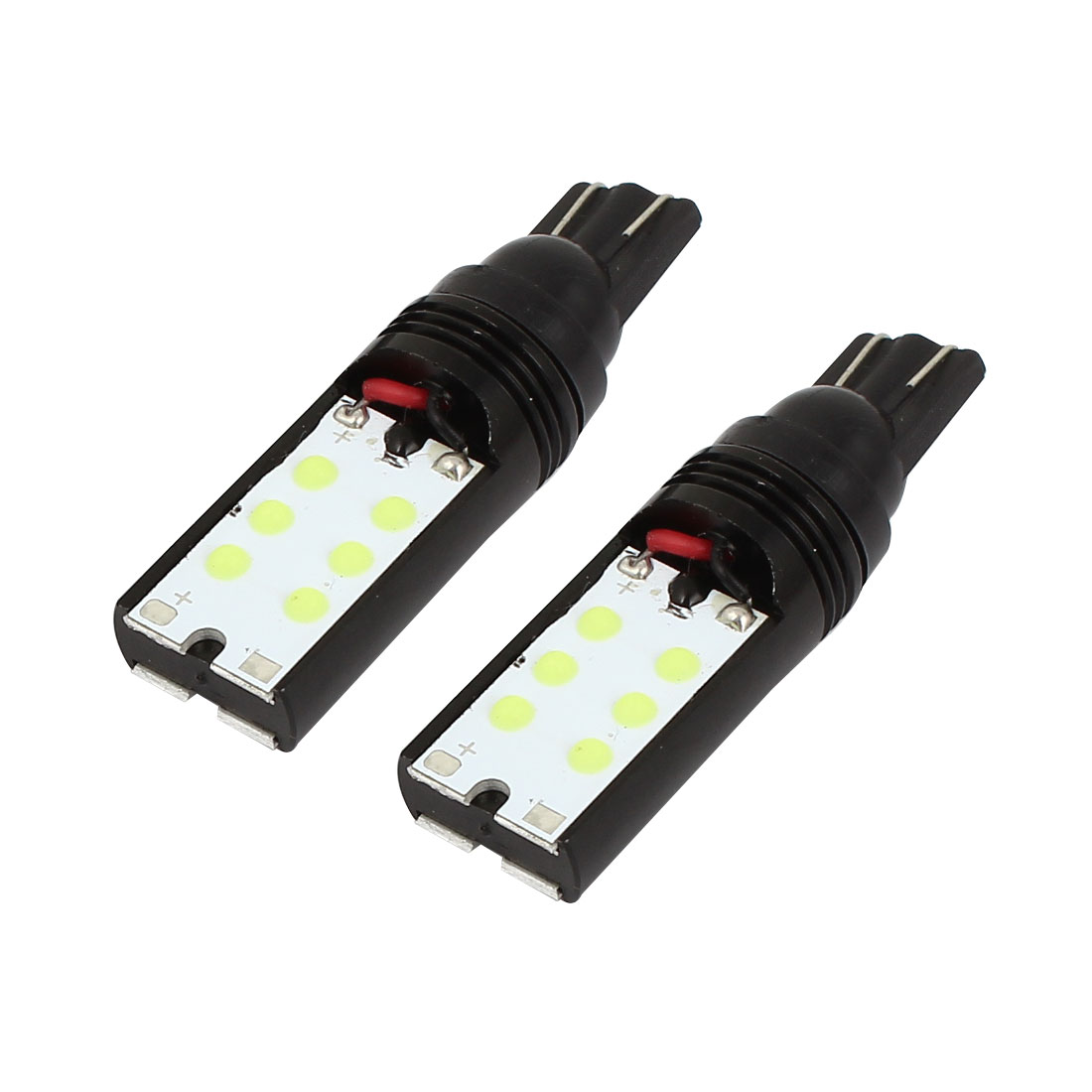 Unique Bargains 2 Pcs White T10 Wedge 12 SMD LED Bulb Bulbs Car Tail light Internal