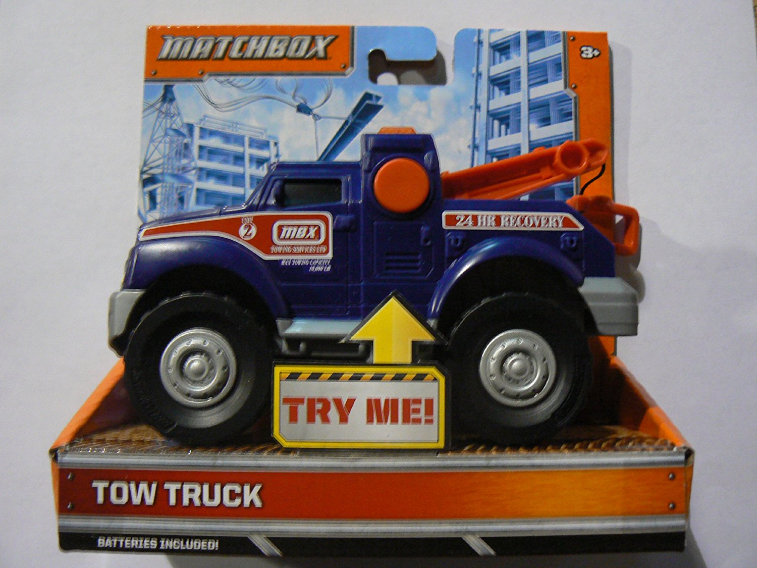 Lights and Sounds Tow Truck, TOW TRUCK Matchbox * LIGHTS & SOUNDS * Vehicle By Matchbox Ship from US by