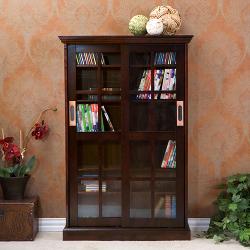 Southern Enterprises Tavares Sliding Door Media Cabinet, Espresso