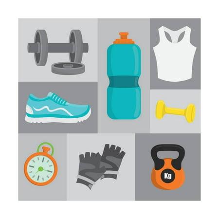 Gym Digital Design Print Wall Art By Diana Johanna Velasquez
