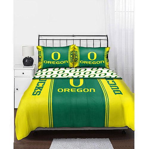 NCAA Mascot Bedding Comforter Set with Sheets, Oregon Ducks