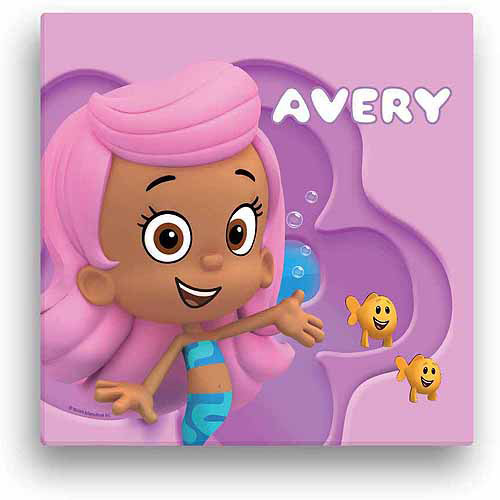Personalized Bubble Guppies Molly 12 x 12 Canvas Wall Art