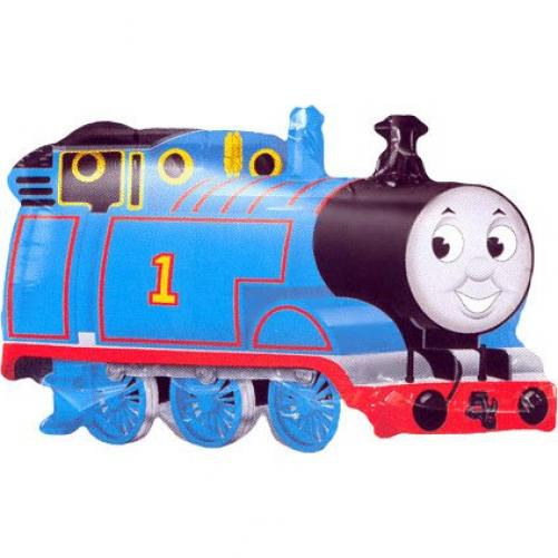 THOMAS THE TANK TRAIN MYLAR PARTY BALLOON SUPERSHAPE Multi-Colored
