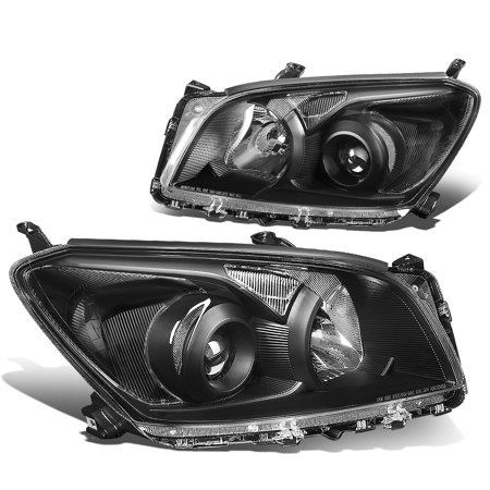 For 2009 to 2012 toyota Rav4 XA30 Pair Projector Headlight Black Housing Clear Corner Headlamps 10 11 Left+Right