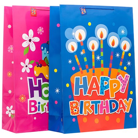 New 373270  Gift Bag Happy Birthday Xtra Jumbo Asst Color & Design (12-Pack) Gift Wrapping Cheap Wholesale Discount Bulk Party Supplies Gift Wrapping](Bulls Party Supplies)
