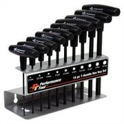 Performance Tool W80275 10pc MET T-Handle Hex Key Set
