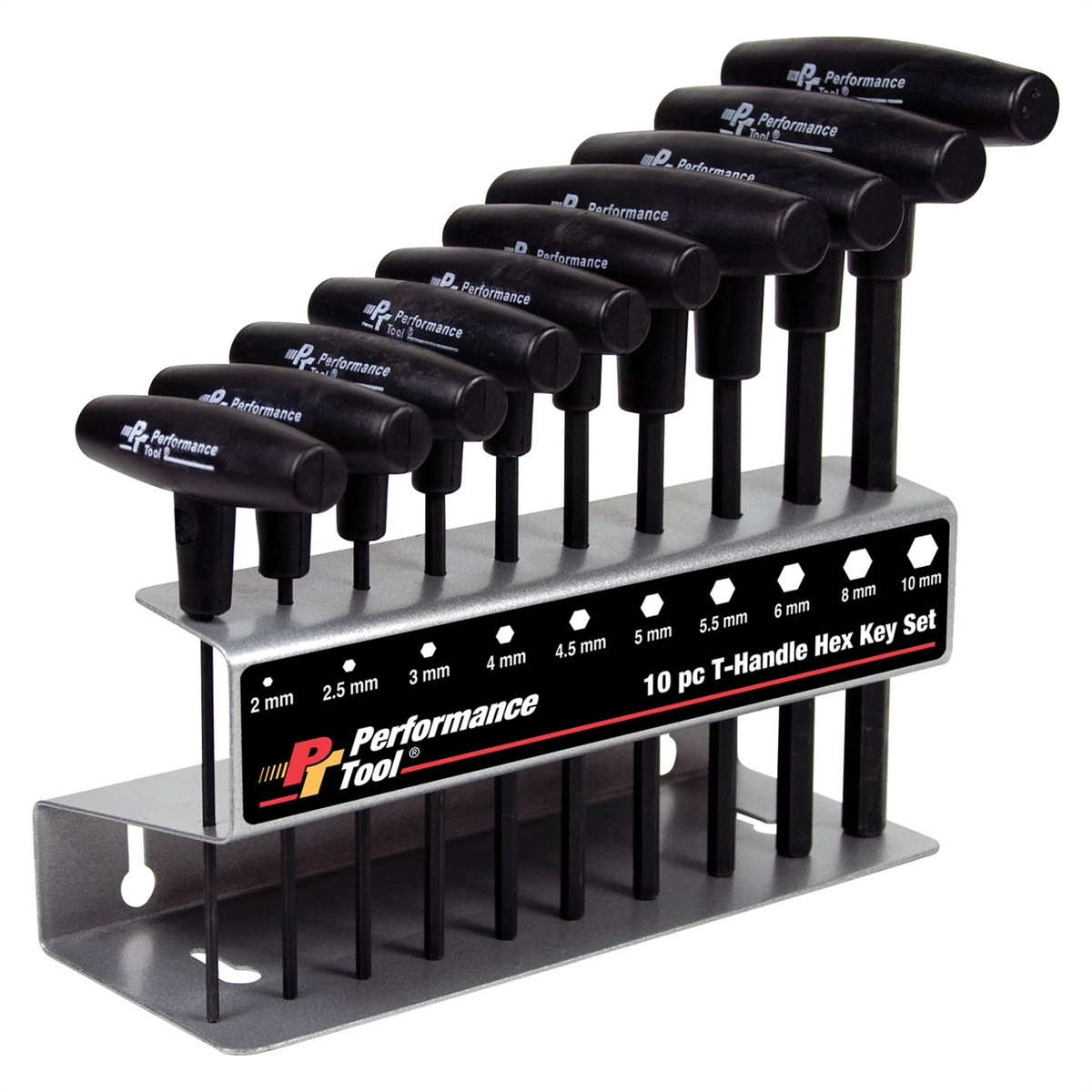 10Pc. Metric T-Handle Hex Key Set