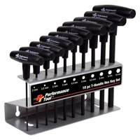 Performance Tool W80275 10pc MET T-Handle Hex Key Set