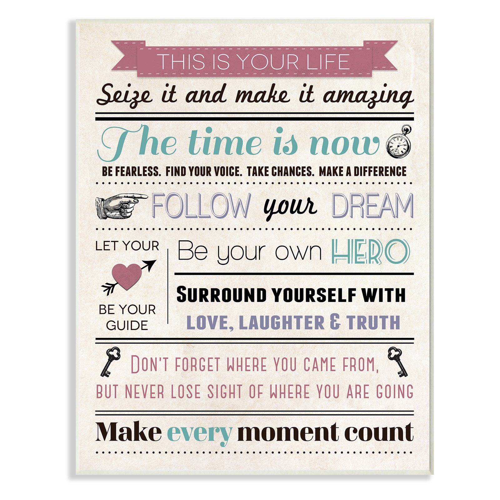The Stupell Home Decor Collection This Is Your Life Infographic Style Inspirational Art Wall Plaque
