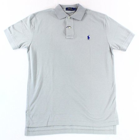 Polo Ralph Lauren NEW Gray Mens Size Small S Short Sleeve Polo Rugby Shirt $85