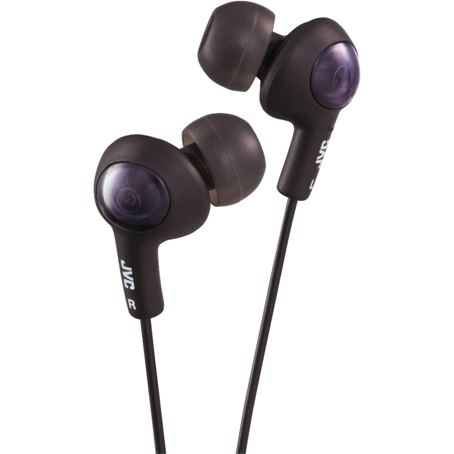 JVC HAFR6B Gumy Plus Earbuds with Remote & Microphone (Black)