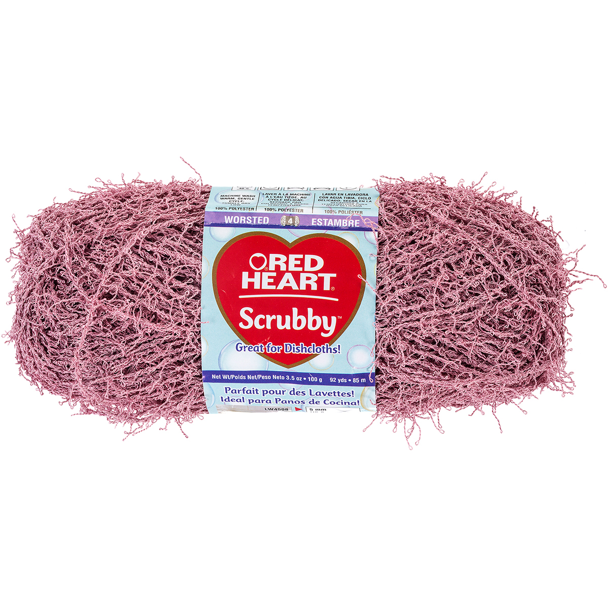 Red Heart Scrubby Yarn-Primrose
