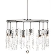 Dainolite 8 Light Crystal Round Pendant - Polished Chrome