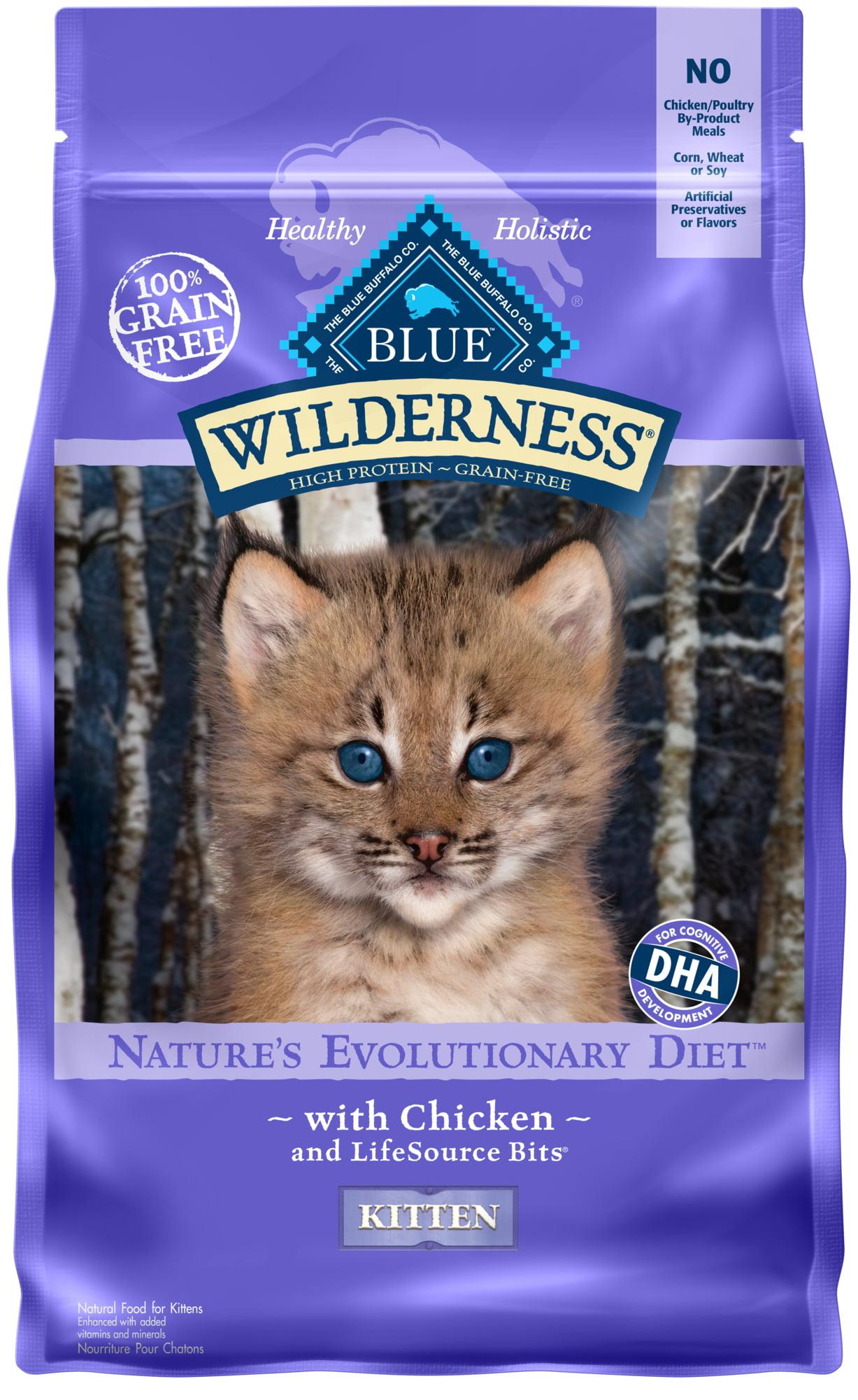 Blue Buffalo Wilderness High Protein Grain Free Natural Kitten Dry Cat Food Chicken 2 Lb Walmart Com Walmart Com