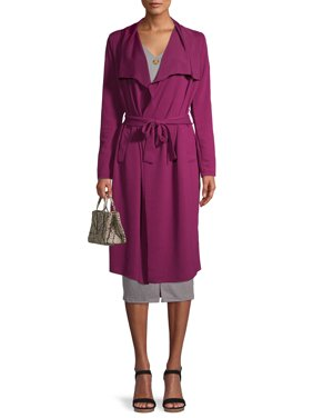 Say What? Juniors' Textured Trench Coat