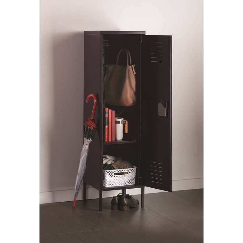 21898 Black Office Dimensions Personal Locker Storage Cabinet