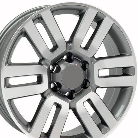 Toyota 4runner Crankshaft - 20x7 Wheel Fits Toyota, Lexus Truck & SUV - 4Runner Style Gunmetal Rim w/Mach'd Face Hollander 69561