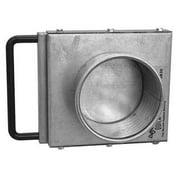 "NORDFAB NFMES Manual Blastgate, 4"" dia, Steel 3241-0400-100000"