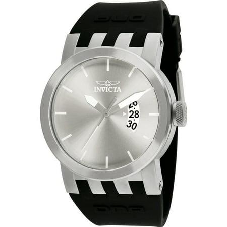 Invicta 10407 Men's Dna/Urban Silver Dial Black Silicone Watch