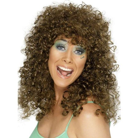 Boogie Babe Curly Brown Wig](Curly Brown Wig)