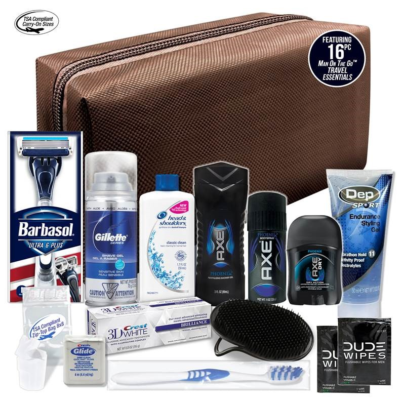 Convenience Kits Young Men's AXE Travel Bag, 16 pc
